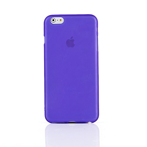 "Kit Me Out UK TPU Gel Case for Apple iPhone 6 Plus / 6S Plus 5.5"" Inch - Clear Frosted Pattern Violett Gefrostet"