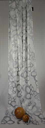 Homing 'à Passants de INCL. Ruban Universel Floating Mousse Rideau Store Semi-Transparent 135 x 245 cm Blanc/Gris Argent