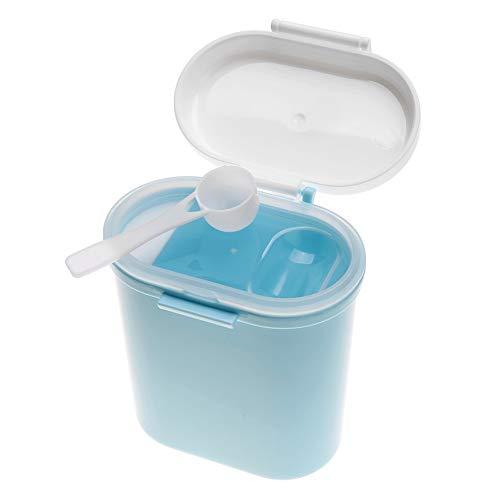 Baby Milchpulver Box Formel Dispenser Kunststoff Tragbare Kinder Snack Food Obst Süßigkeiten Vorratsbehälter Große Kapazität(Large Size-Blau) (Milchpulver-box)