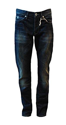 Destroyed Herren Paint Used-Look Blue Blau Jeanshose Hose Denim Chino A4