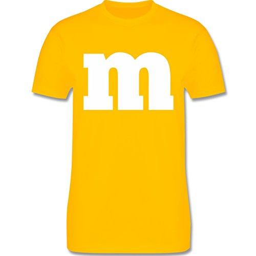 Karneval & Fasching - Gruppen-Kostüm m Aufdruck - M - Gelb - L190 - Herren T-Shirt ()