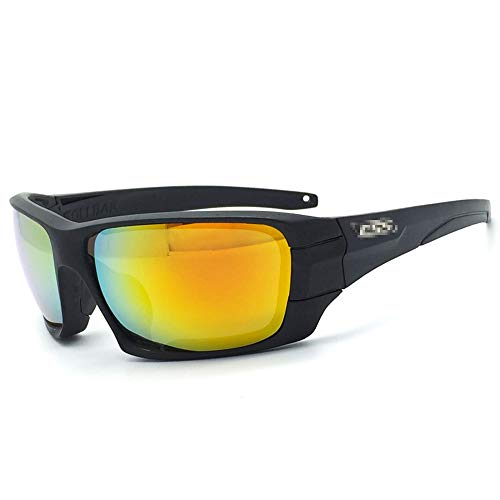 Gläser Driving Sports Polarized Sunglasses Leichte Brillen für Unisex Brillen (Color : Schwarz, Size : One Size)