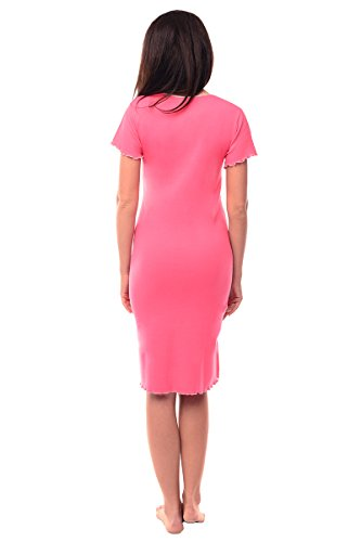 Purpless Maternity 2in1 grossesse et allaitement col en v chemise de nuit 1055n Bright Pink