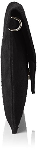 Bags4Less Venezia selvaggia Clutch / Borsetta da sera / Borsa donna in vera Pelle scamosciata (28cm Larghezza x 18 cm Altezza) Nero (nero)
