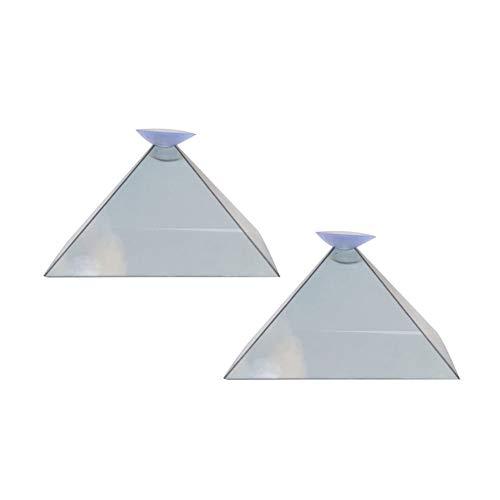 Soulitem Hologramm-Pyramiden-Anzeigen-Projektor-Videostativ 3D Portable für intelligenten Handy