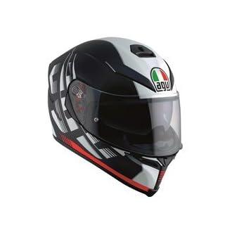 Motorradhelm AGV K5-S Darkstorm Matt schwarz/rot