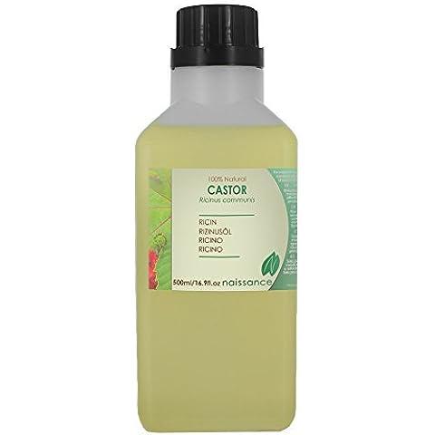 Aceite de Ricino Prensado en Frío - 100% Puro - 500ml
