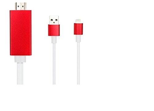 Câble adaptateur 8broches vers HDMI HDTV numérique pour iPhone 5(Rouge)