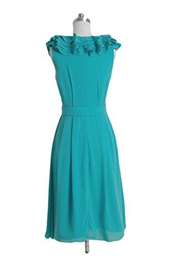daisyformals courtes col en V robe de demoiselle d'honneur en mousseline VINTAGE Party robe (bm245) Gris - #55-Gray