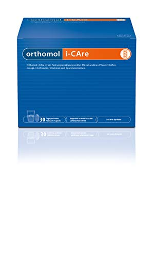 Orthomol i-CAre 30er Granulat & Kapseln - Nahrungsergänzung mit Pflanzen-Extrakt, Omega 3, Vitaminen & Spurenelementen