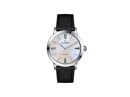 Eterna Eternity Lady Quartz Watch, 32mm, White Mother of Pearl, Leather Strap