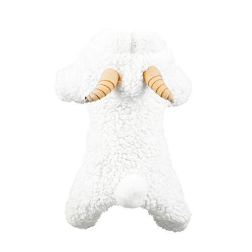 Schaf Hunde Kostüm Xl - POPETPOP lustiges Hundekostüm - Cosplay-Outfits für weiße Schafe - Warmer Winterhundekleidungsjackenkleid für Haustier Halloween-Party verkleiden Sich - Größe XL