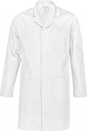 Time Kostüm Tool - Arbeitsmantel- Berufsmantel-Berufskittel - Kittel grau , reine Baumwolle Gr.XS-5XL (5XL, Weiß)