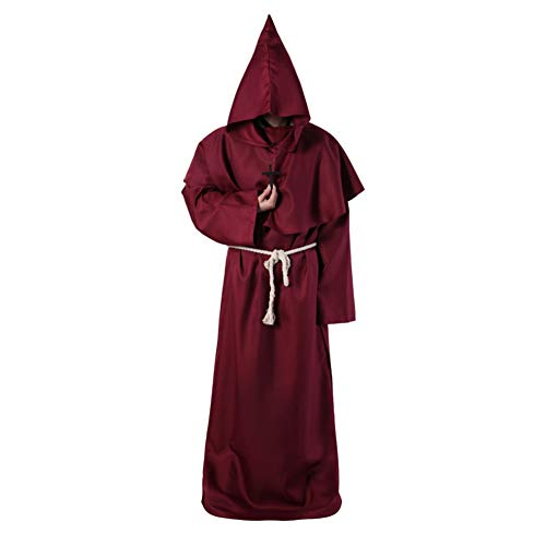 Shiningbaby Halloween-Umhang Erwachsene Frauen Männer Cape Party Rollenspiel Tunika mit Kapuze Ritter Gothic Kostüm (Hexe König Kostüm Tunika)