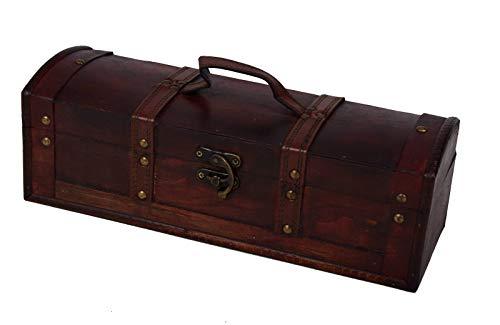 Iwea Deko Truhe Holztruhe Box Holz Kiste Aufbewahrungsbox Antik im Kolonialstil