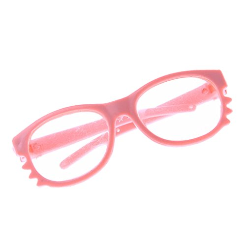 MagiDeal 1 Paar Runde Rahmen Puppen Brillen für 18 '' American Girl Puppenkleidung - Rosa # 2 (Girl Brille Puppe American)