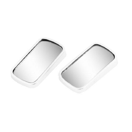 Silver Tone Frame Safety Car Achteruitkijkspiegel Blind Spot bolle spiegel 2 stuks