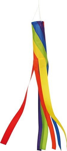 Sacca a vento - 100 SPIRAL - Impermeabile e resistente ai raggi UV - Ø11cm, Lunghezza: 100cm - incl. clip girevoli con cuscinetti a sfere - Sfera Giardino Bandiera