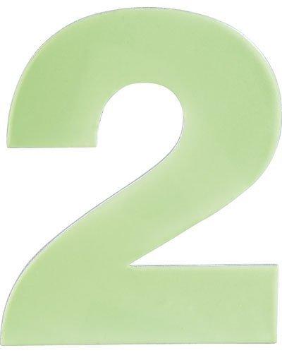 Numéro de maison phosphorescent - ''2''