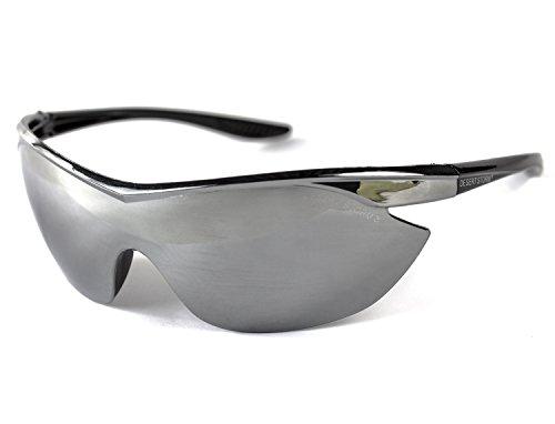 Softair Schutz-Brille Protection Air-Soft Zubehör siber verspiegelt Sport-Brille Gesichtsschutz
