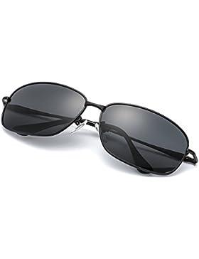 Gafas de Sol Hombre Polarizadas con Proteccion 100% UVA/UVB & Marco Metal Irrompible, Deportes al Aire Libre,...