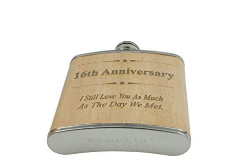 Flachmann zum 18. Hochzeitstag, Geschenk für Ihn