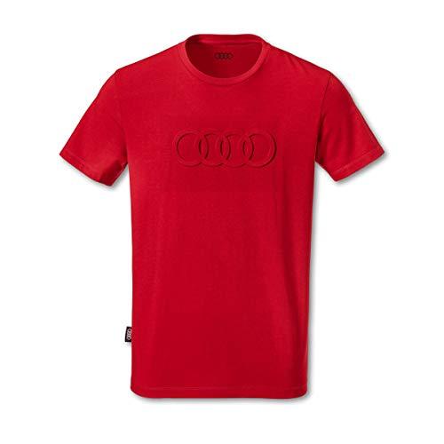 Audi Herren T-Shirt Ringe rot (M)