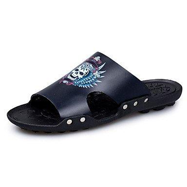 Slippers & amp da uomo;Primavera Estate Autunno Comfort in microfibra scarpe a monte casual Heel piatto Ri sandali US8.5-9 / EU41 / UK7.5-8 / CN42