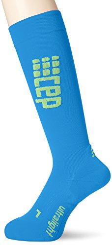 CEP Run Ultralight Socks Men electric blue/green Größe III   32-38cm 2018 Laufsocken