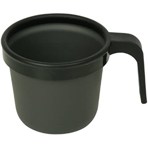 10T Outdoor Equipment 1082764009 Cup 300 - Taza para camping (aluminio, 300 ml), color gris oscuro