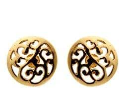 CHANTI - Kirsten Dyrum swirls earrings in gold-plated sterling silver - Model:204121