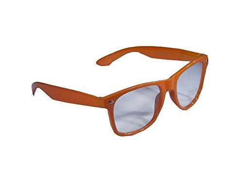 Klarglasbrille im Wayfarer Style Brille Nerdbrille ohne Stärke Nerd Sonnenbri...