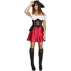 Vestido de Pirata para mujeres, negro.
