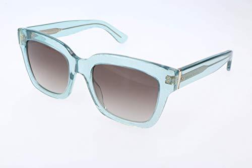 BOSS Hugo Damen 0674/S 5M 35R 53 Sonnenbrille, Türkis Grid/Grey Ds Aqua