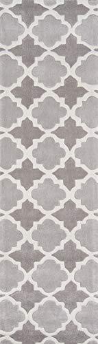 momeni Teppiche blissbs-26gry2030Bliss Collection, Hand geschnitzt & getuftet modernes Bereich Teppich, 2'x 3', grau, Polypropylen, grau, 2'3