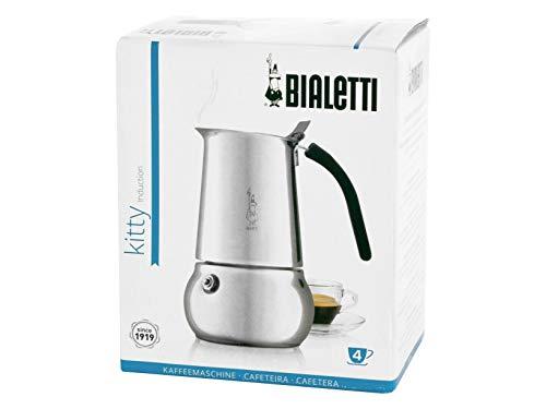 Bialetti 4882 machine à espresso 4 tasses, acier inoxydable, argent