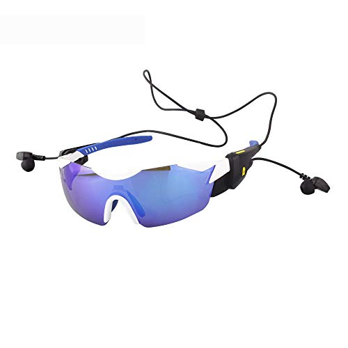 Douerye Bluetooth Smart-Multi-Funktions-Reiten V4.1 Bluetooth Stimme Sonnenbrille, Outdoor-Reiten, Fahren Bergsteigen, Reisen, Wandern, Angeln, Sport Bluetooth-Brille,Blue