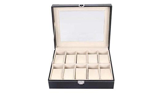 BFzhang Travel Jewellery Box, gioielli Box Organizer per le donne, Jewelry Storage Box Watch Display Box 10 bit in pelle PU Leather