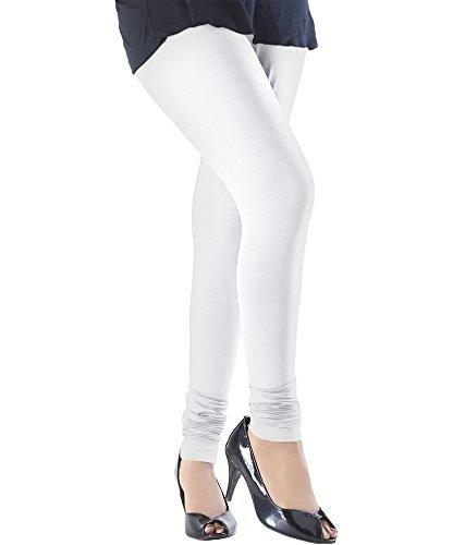 ZAKOD White Cotton Lycra Premium Leggings for Women (Pack of 1)