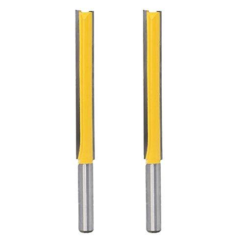 2 Stücke Fräser Nutenfräser Holzfräser Nuter Freser mit 8mm Schaft, Langer Schnittlänge 76,2 mm für Holzbearbeitung Cutter