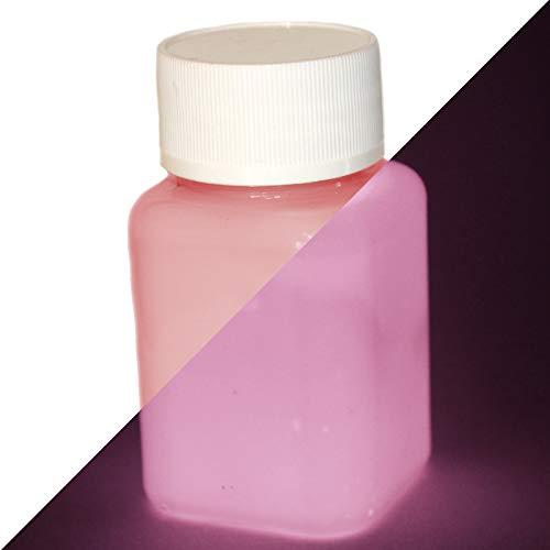 lumentics Premium Leuchtfarbe Rosa/Pink 100ml - Im Dunkeln leuchtende Farbe, Helle Nachleuchtfarbe, Selbstleuchtende Wandfarbe, UV Glühfarbe