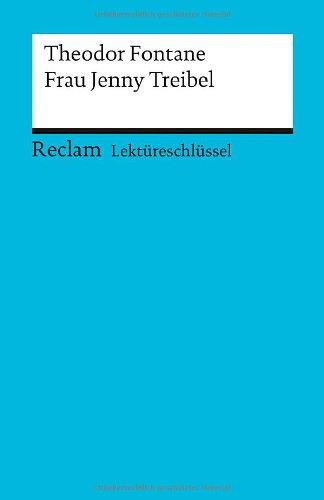 Buchseite und Rezensionen zu 'Lektüreschlüssel zu Theodor Fontane: Frau Jenny Treibel' von Hans-Georg Schede