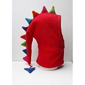 rote Drachenmütze,aus Fleece,für coole kids