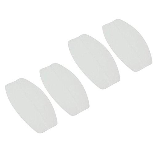 Closecret Cojines de correa de sujetador de silicona suave para mujeres (blanco)