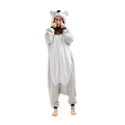 DarkCom Tier-Kostüm für Erwachsene Unisex-Modell Einteiler Jumpsuit ideal Pyjama oder Cosplay-Verkleidung Koala