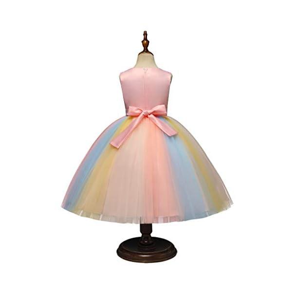 Vectry Vestido Niña Disfraz Niña Bebé Niñas Flores Tulle Princesa Vestido Fiesta Ropa Formal Tutú Princesa Vestido Ropa… 3