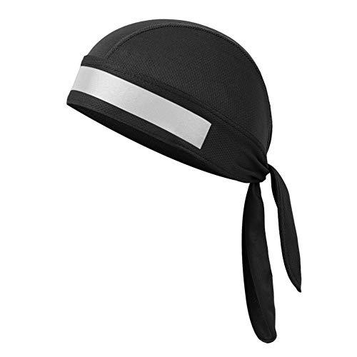 Seasaleshop Langen Schwanz Kopfbedeckungen Breite Riemen Pirat Cap, Schnelltrocknende Atmungsaktive Feuchtigkeits-Radkappen Sport Stirnbänder Mit Cursor Turban Sweat...