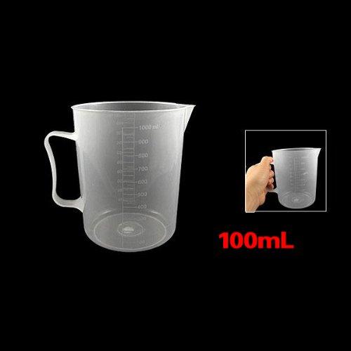 Trasparente Bicchiere - SODIAL(R) 1000 mL Capacita' Plastica Laboratorio Becher Trasparente