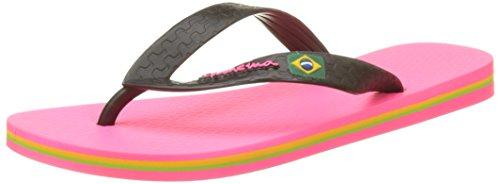 Ipanema Unisex-Kinder Classic Brasil II Kids Zehentrenner, Rose (Pink/Black), 29-30 EU