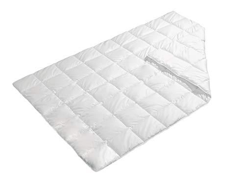 Revital Cotton - Baumwolle Bettdecke Sommer, 200x200 Leichtsteppbett Füllung und Bezug: 100% Baumwolle